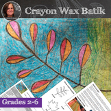 Fall Leaves Art Lesson - Wax Crayon Batik Fall Leaves - Fa