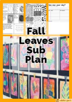 Fall Leaves- Art Sub Plan