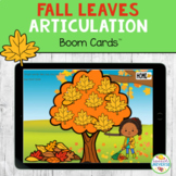 Fall Leaves Articulation BOOM Cards Distance Learning