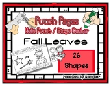 Fall Leaves - Autumn  - 26 Shapes - Hole Punch Cards / Bingo Dauber Pages