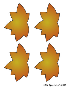 Fall Leaves | Autumn Articulation & Language Activity