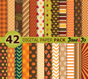 Fall Leaves Autumn Digital Paper Autumn Digital Paper Harv