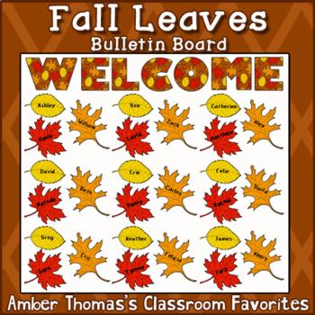 Fall Leaves Bulletin Board Cutouts