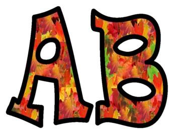 Fall Leaves Bulletin Board Letters 2