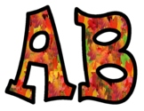 Fall Leaves Bulletin Board Letters 2