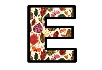 Fall, Leaves, Bulletin Board Letters, Classroom Décor, Set 2, Garden Alphabet