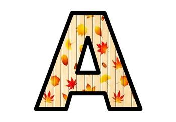 Fall Leaves Bulletin Board Letters, Classroom, Door Decor