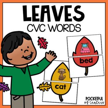 Fall Leaves CVC Puzzles