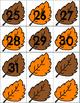 Fall Leaves Calendar Cards