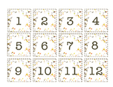 Fall Leaves Calendar Numbers