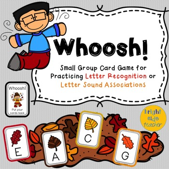 Fall Leaves Card Game for Letter Identification