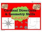 Fall Leaves - Cardinal (Map) and Geometry (Lines and Angles)