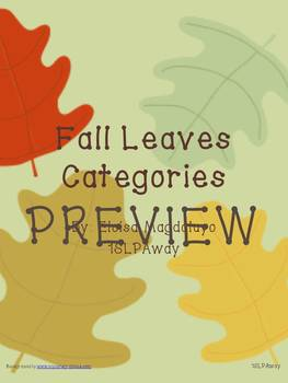 Fall Leaves Categories