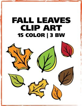 Fall Leaves Clip Art - 18 Images! - Freebie
