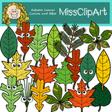 Fall Leaves Clip Art (Color and B&W) {MissClipArt}