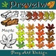 Fall Leaves Clipart {Paez Art Design}