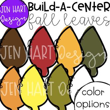 Fall Leaves Clipart - Build-a-Center {Jen Hart Clip Art}