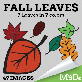 Fall Leaves Clipart - Cartoon Style