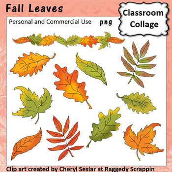 Fall Leaves - Color - pers & comm Autumn colors