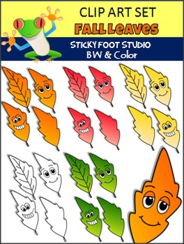 Fall Leaves Colorful Clip Art Freebie