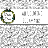 Fall Leaves Coloring Bookmarks