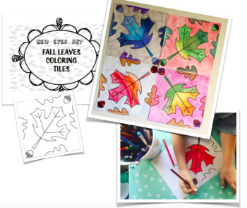 Fall Leaves Coloring Tiles! Perfect for Thanksgiving! Perfect Seasons Study!
