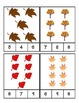 Fall Leaves Count and Clip Cards #1-24