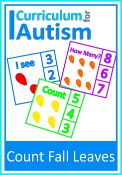 Fall Leaves Autumn Counting 1-10 Number Clip Cards , Autism, Special Education