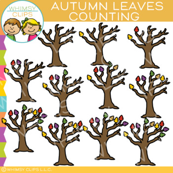 Fall Leaves Counting Clip Art