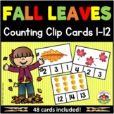 Fall Leaves Counting Clip Cards 1-12