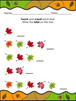 Fall Leaves Counting Group Sets