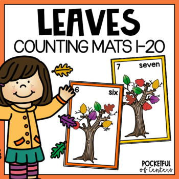 Fall Leaves Counting Mats 0-20
