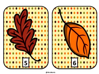Fall Leaves Counting Mats