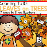 Fall Leaves Counting to 10 - Seven Ways to Show Numbers