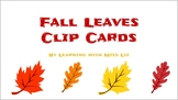 Fall Leaves Counting to 20 Clip Cards