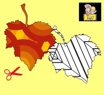 Fall - Autumn Leaves - Art Activity - Cut and Color