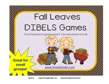 Fall Leaves DIBELS Game / Center or Small Group