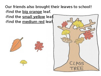 Fall Leaves Describing and Following Directions + NO PREP Activity