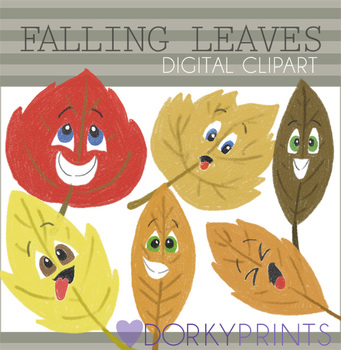 Fall Leaves Digital Clip Art