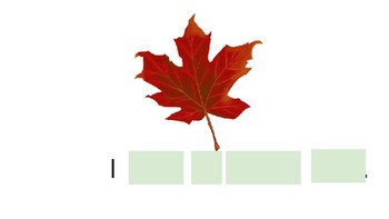 Fall Leaves Emergent Reader POWERPOINT!