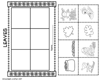 Fall Leaves Emergent Reader and Mini Literacy Set