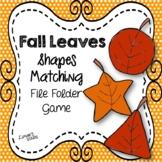 Fall Leaves File Folder Game:  Shape Matching