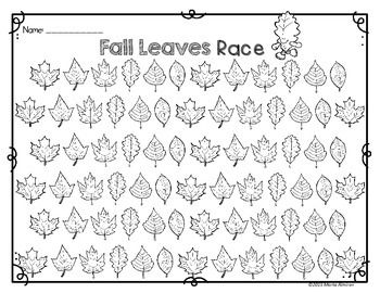 Fall Leaves Flipbook  and Math Center