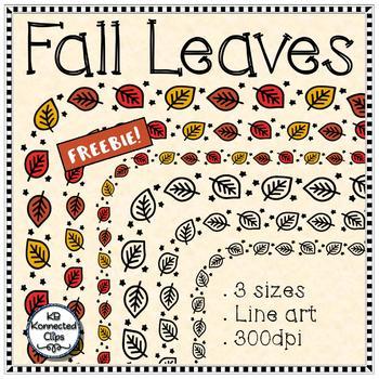 Fall Leaves - Frames - 3 sizes and Line Art- Freebie!!!