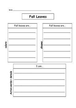 Fall Leaves Graphic Organizer