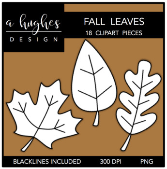 Fall Leaves Clipart {A Hughes Design}