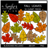 Fall Leaves Clipart {A Hughes Design}