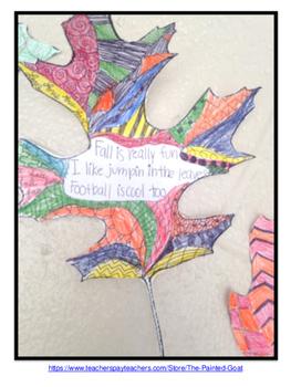 Fall Leaves - Haikus and Zentangles
