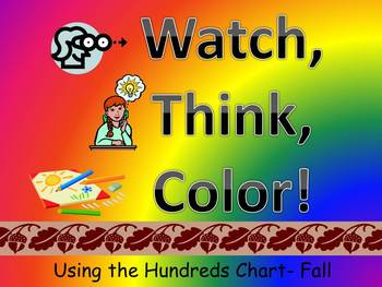 Fall Leaves Hundreds Chart Fun - Watch, Think, Color Mystery Pictures
