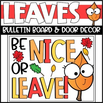 Fall Leaves Kindness Bulletin Board or Door Decoration